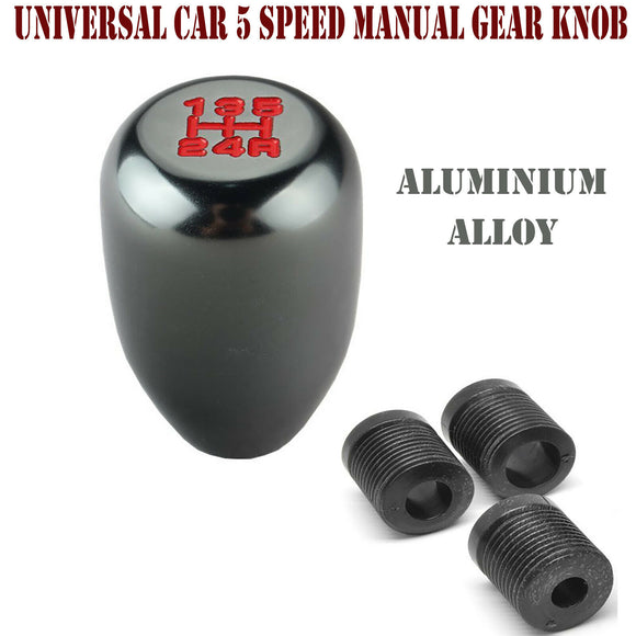 Aluminium Alloy Universal Car 5 Speed Manual Gear Stick Lever Knob