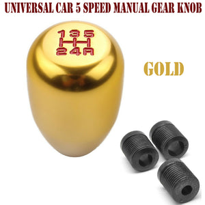 Universal Car 5 Speed Manual Gear Stick Lever Knob Gold