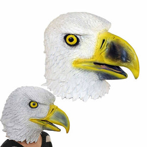 Eagle Head Mask Creepy Animal Halloween Costume Novelty Toys Theater Props