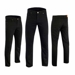 Mens Motorbike Motorcycle Black Blue Reinforced Jeans Lined With DuPont™ Kevlar®