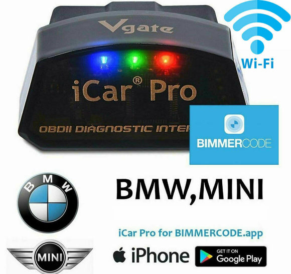 Vgate iCar Pro BLE WiFi BIMMERCODE COMPATIBLE BMW Coding iPhone Android OBD2 AU