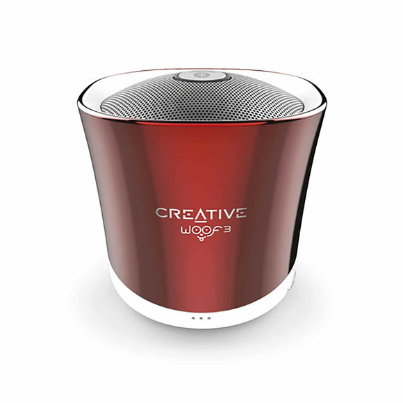 Creative Woof3 Micro Sized High Performance Bluetooth Wireless Speaker Rouge Red