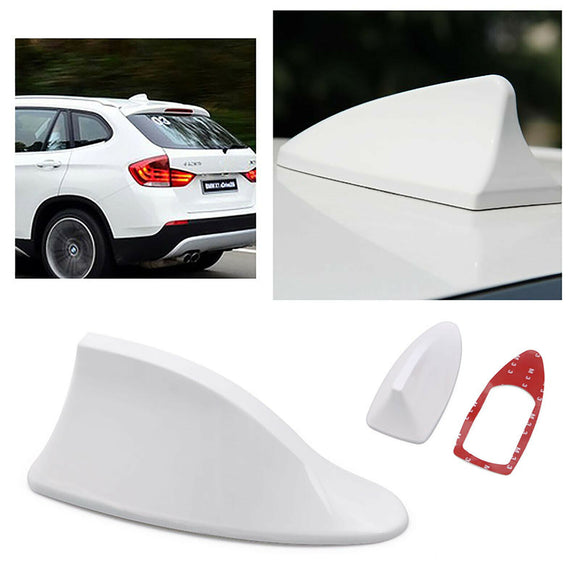 White Universal Car Auto Roof Shark Special Radio AM/FM Signal Aerial Antenna