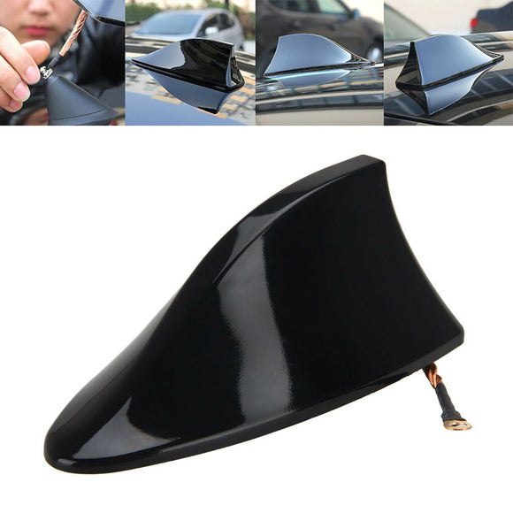 Universal Car Auto SUV Roof Radio AM/FM Shark Fin Signal Antenna Black
