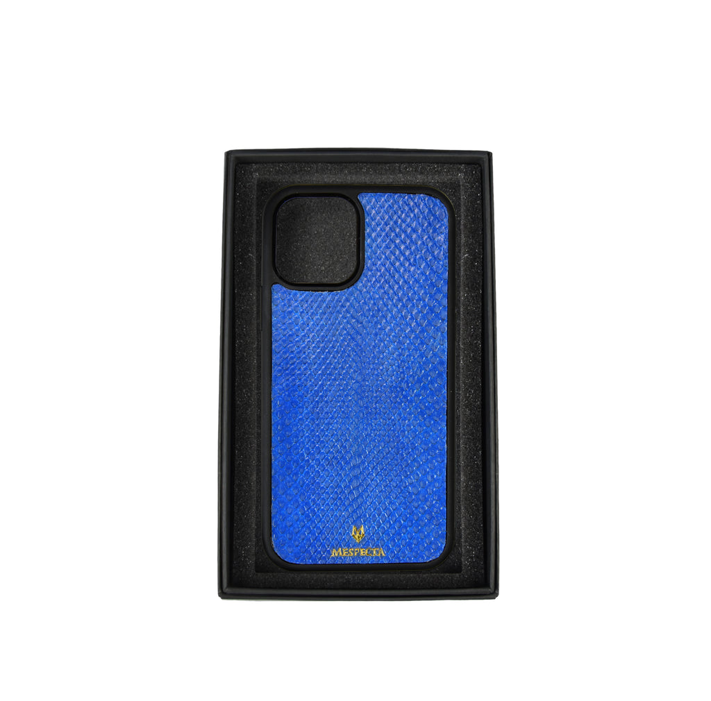 Cover Iphone 12/ 11/ XR in Pitone Blu