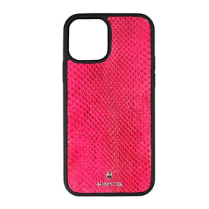 Cover Iphone 12/ 11/ XR in Pitone Fucsia