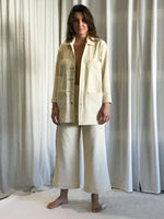 Corduroy Lab Coat - Alabaster