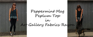 The Autumn Peplum in Art Gallery Farbics Rayon