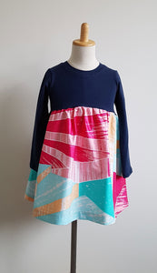 """Bright Lines"" Horizon Longsleeve Dress"