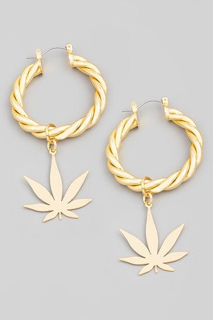 MJ Dangle Hoop Earrings