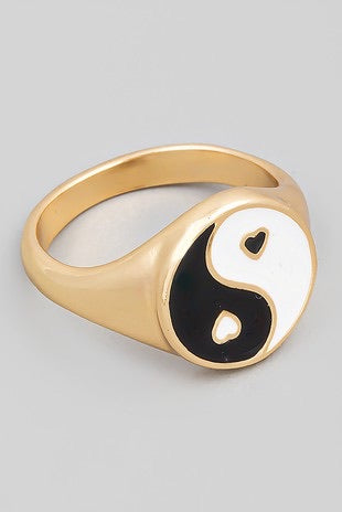 Ying & Yang Love Ring