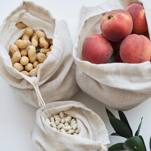 Luxury Linen Produce Bags