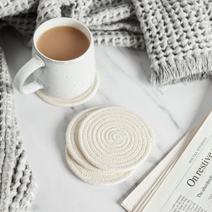 Cotton ECO-TWIST Coasters - Set of 4