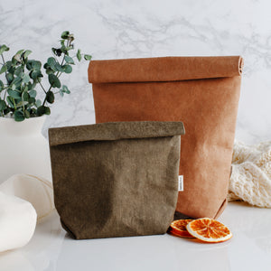 Washable Paper Bag Set of Two