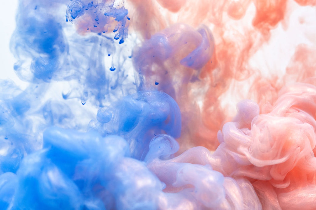 Blue Pink Abstract Colors Clouds
