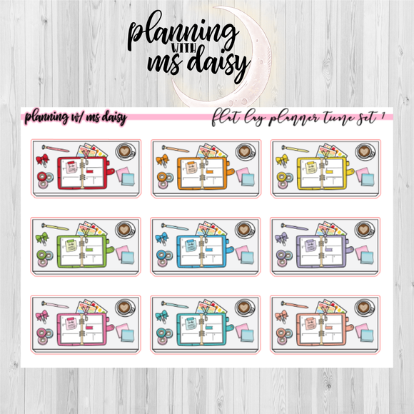 Flatlay Planning Time Stickers