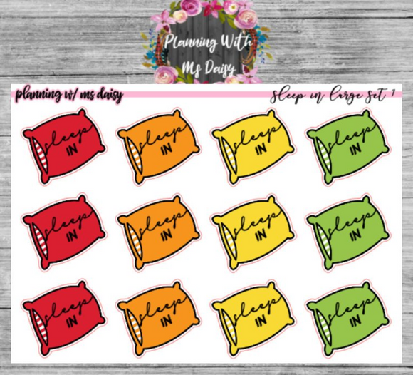 Sleep In Pillow Planner Stickers