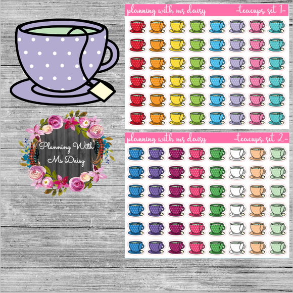 Teacup Planner Stickers