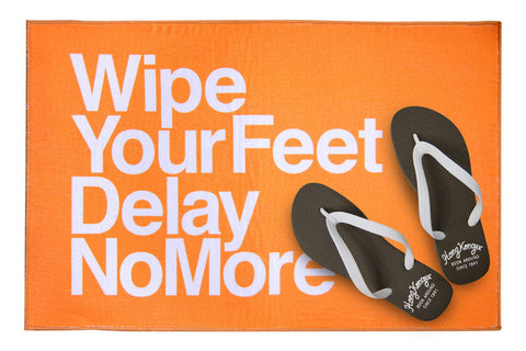 Wipe Your Feet, Delay No More bathmat