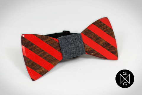 Calvin wooden bow tie by The Two Guys Bow Ties