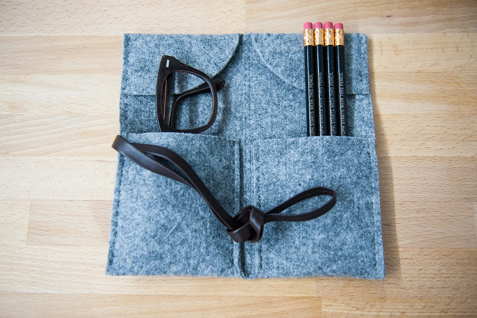 Grey Felt Folding Carrier