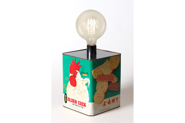 VINTAGE BISCUIT BOX LAMP