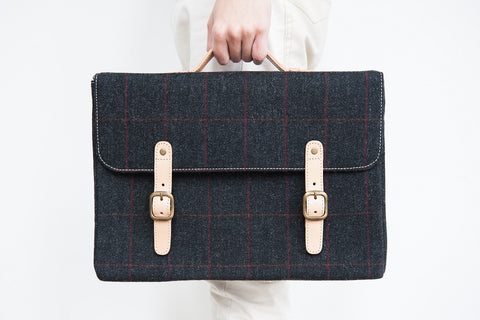 Black Tweed Satchel