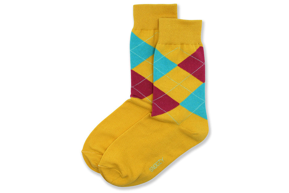 W Yellow Argyle
