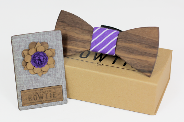 The Dale Bow Tie & Detroit Lapel Pin