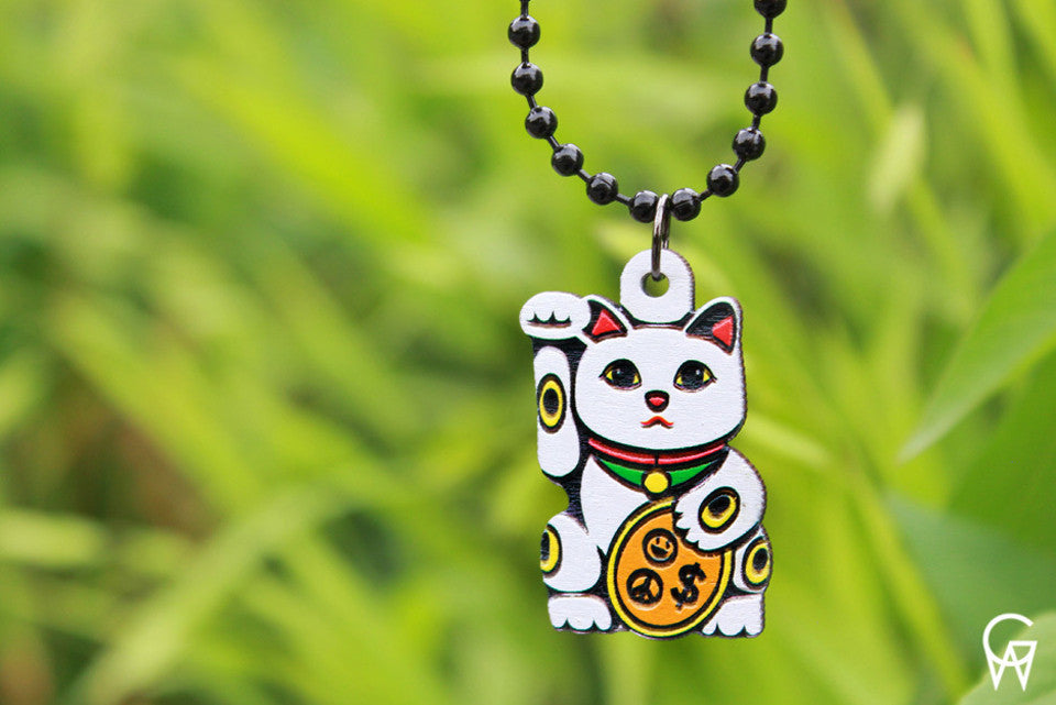 Micro Money Cat Necklace