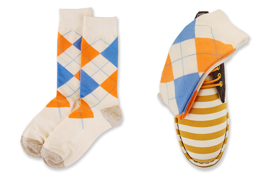 Cream Argyle