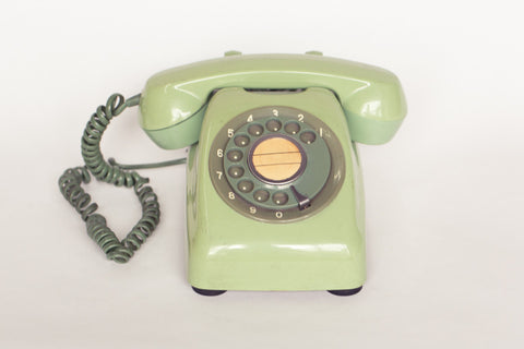 1980s Retro Telephone (Green and Dark Green)