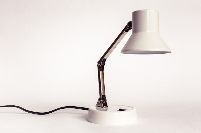 1980s white tensor task light.