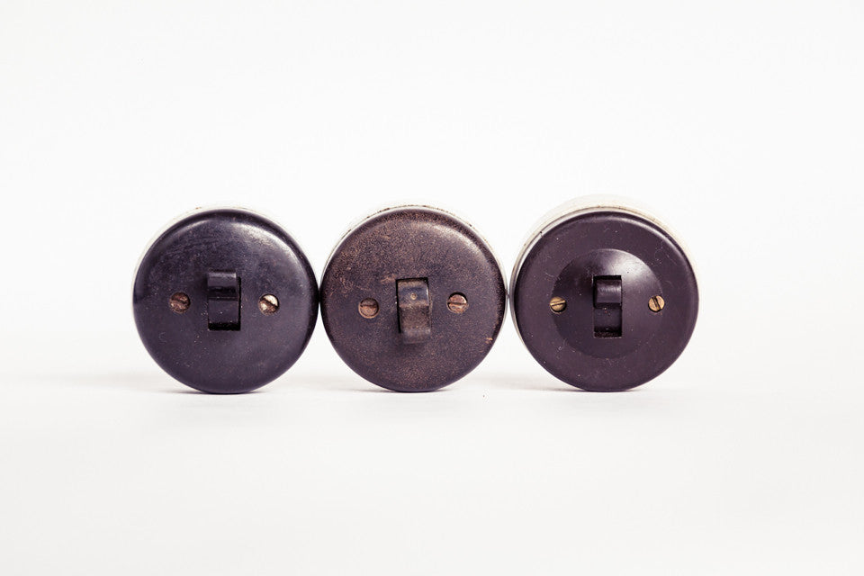 Vintage Bakelite Two-way Switch.