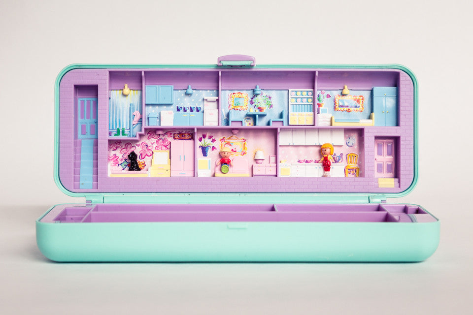 Polly Pocket pencil case when opened.