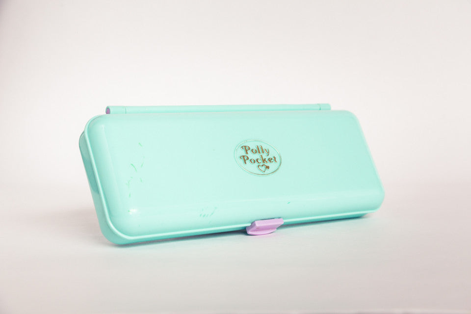 Polly Pocket pencil case when closed.