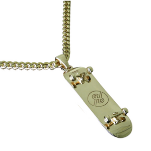 Diamond Edition 14k Solid Gold Pendant & Cuban Chain