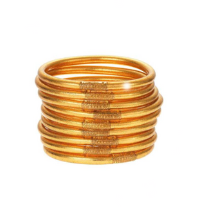 Gold-All Weather Bangles-9 Piece Set - Tres Chic Boutique