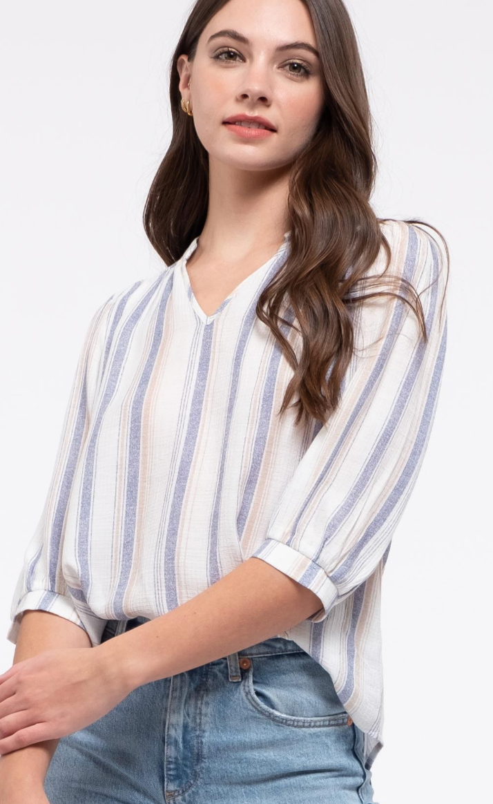 Natalie Stripe Top(2 Colors)