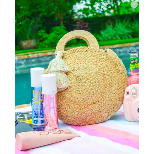 Tahiti Round Jute Bag - Tres Chic Boutique