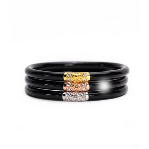 Black 3 Kings BudhaGirl Bangles-3 Piece Set - Tres Chic Boutique