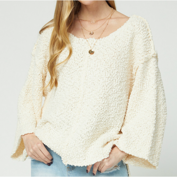 Gillian Popcorn Sweater (2 Colors Available)