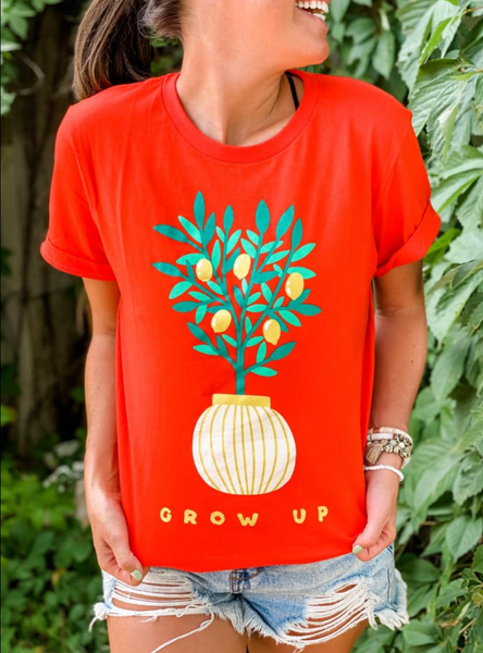 Lemon-Grow Up Tee(S-XL) - Tres Chic Boutique