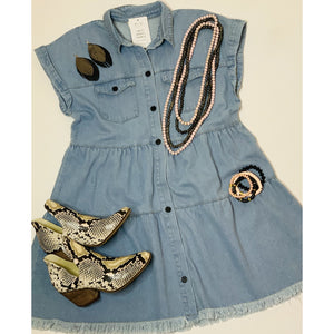 Malory Denim Dress - Tres Chic Boutique