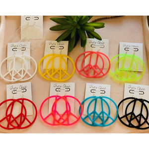Peace Earrings-9 Colors Available - Tres Chic Boutique