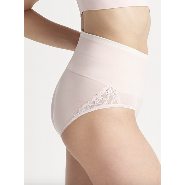 Ultralight Seamless Shaping Brief with Lace Insert - Tres Chic Boutique