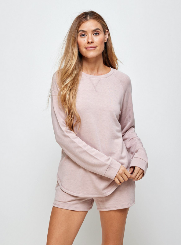 Unwind Sweater-Ash Rose