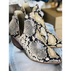 Trader Multi Snake Skin Booties - Tres Chic Boutique