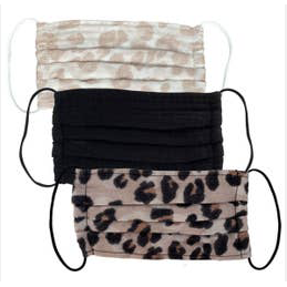 Leopard Cotton Mask, 3-Piece Set - Tres Chic Boutique