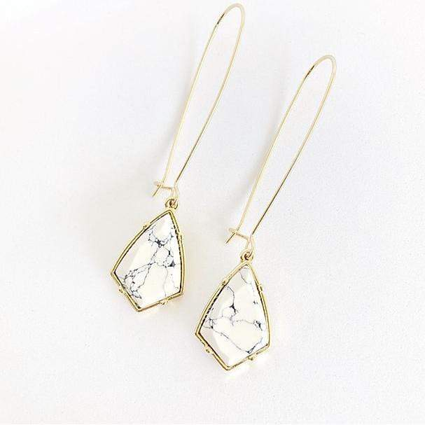 Statement Marble Drop Earring